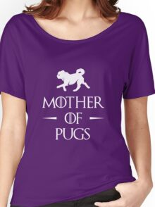 Mother of Pugs - White Women's Relaxed Fit T-Shirt