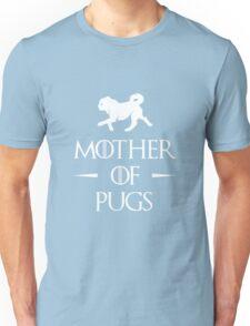 Mother of Pugs - White Unisex T-Shirt