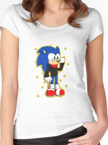 Smart/Separated Darkness Sonic Women's Fitted Scoop T-Shirt