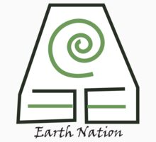 Earth Nation Symbol White Background One Piece - Short Sleeve