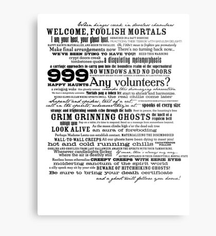 I am your host, your Ghost Host...(Black) Metal Print