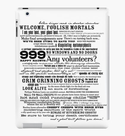 I am your host, your Ghost Host...(Black) iPad Case/Skin