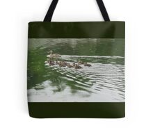 Eleven Duckling's in the Rain Tote Bag