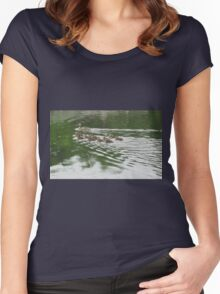 Eleven Duckling's in the Rain Women's Fitted Scoop T-Shirt