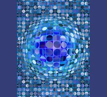 Optical Illusion Sphere - Blue Unisex T-Shirt