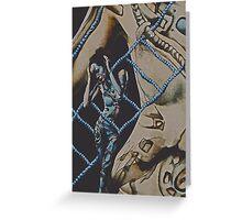 Mothership Cyborg Surrealism Greeting Card