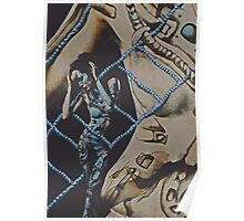 Mothership Cyborg Surrealism Poster