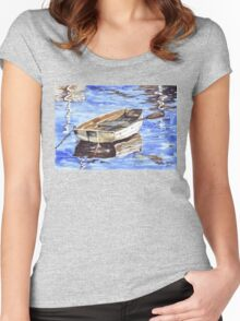 All aboard the Nautical theme Women's Fitted Scoop T-Shirt