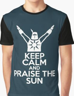 Keep Calm and Praise The Sun Graphic T-Shirt