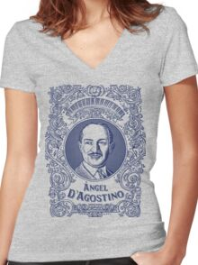 Ángel D'Agostino (in blue) Women's Fitted V-Neck T-Shirt