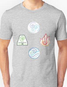 Avatar Elements on White Unisex T-Shirt