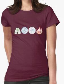Bending Symbols Avatar Womens Fitted T-Shirt