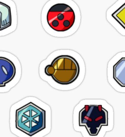 Pokemon Gym Badges: Johto Sticker