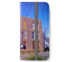 Abandoned & dilapidated brick building iPhone Wallet/Case/Skin