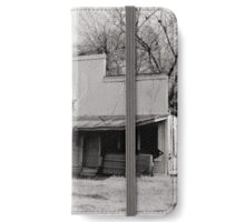 Abandoned building B&W iPhone Wallet/Case/Skin