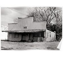 Abandoned building B&W Poster