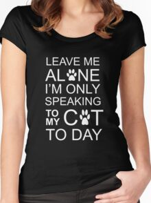 LEAVE MY C-A-T Women's Fitted Scoop T-Shirt