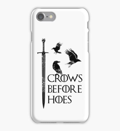 Crows flying on sword iPhone Case/Skin