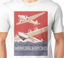 Vintage poster - New York Municipal Airports Unisex T-Shirt