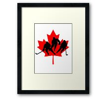 Canada hockey Framed Print