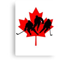 Canada hockey Canvas Print