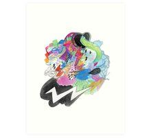 Lightning Bolt Storm Art Print