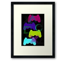 Neon Gaming Framed Print