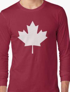 White maple leaf Long Sleeve T-Shirt