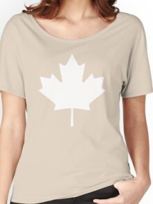 White maple leaf Women's Relaxed Fit T-Shirt