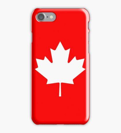 White maple leaf iPhone Case/Skin