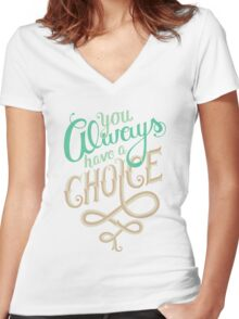 Supernatural Dean Winchester Quote Women's Fitted V-Neck T-Shirt