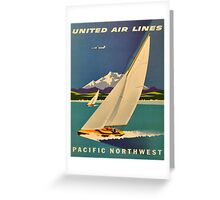Vintage poster - Pacific Northwest Greeting Card