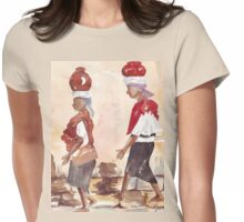 Downtown shopping Womens Fitted T-Shirt