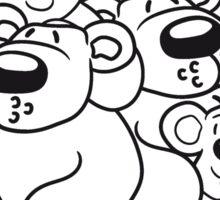 2 children siblings papa mama, son, daughter, family team polar bear sitting sweet cute comic cartoon teddy bear dick big Sticker