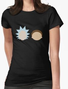 Rick and Morty- Simple Design! Womens Fitted T-Shirt