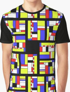Yellow blue red white and black Graphic T-Shirt