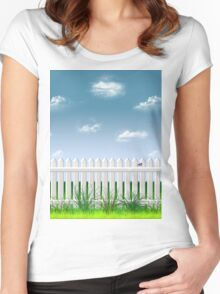 The Garden Fence Women's Fitted Scoop T-Shirt