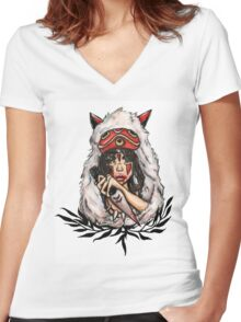 Mononoke Women's Fitted V-Neck T-Shirt