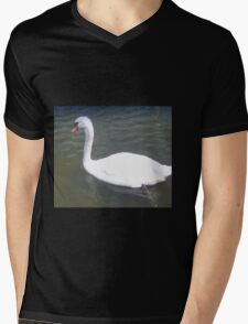 Gliding swan Mens V-Neck T-Shirt