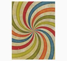 Psychedelic Retro Spiral Baby Tee