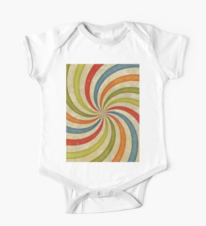 Psychedelic Retro Spiral One Piece - Short Sleeve