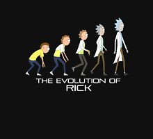 Rick and Morty- Evolution Womens Fitted T-Shirt