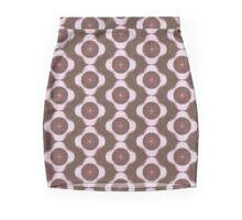 Brown and Pink Flowers Mini Skirt