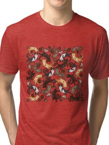 Coffee/Tea Cats Tri-blend T-Shirt