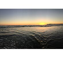 Ocean View Sunset Photographic Print