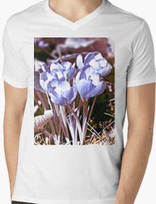 Crocus Infrared Mens V-Neck T-Shirt