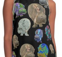 Crazy Hippo Multiplied Contrast Tank