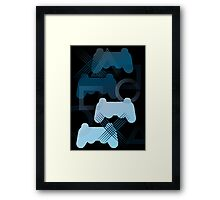 PS3 Gaming blue Framed Print