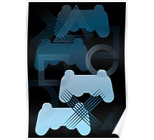 PS3 Gaming blue Poster