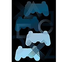 PS3 Gaming blue Photographic Print